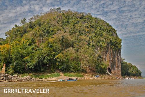 laos boat ride landscape