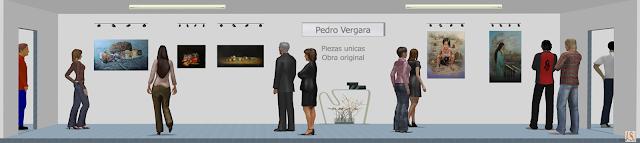 Sala de exposición virtual de pinturas de Pedro Vergara