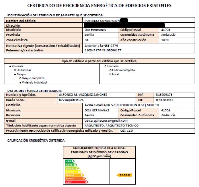 certificacion energetica