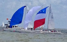 J/80s one-design sailboat- sailing Elissa Regatta- Houston, TX