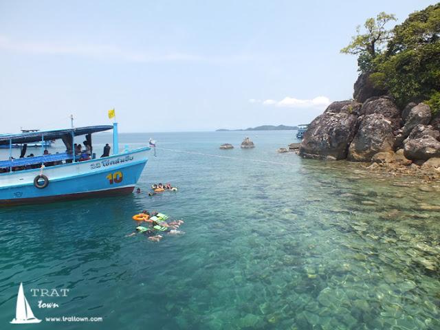 เกาะยักษ์กับการดำน้ำชมปะการัง ที่โฮมสเตย์ บีช บางเบ้า เกาะช้าง