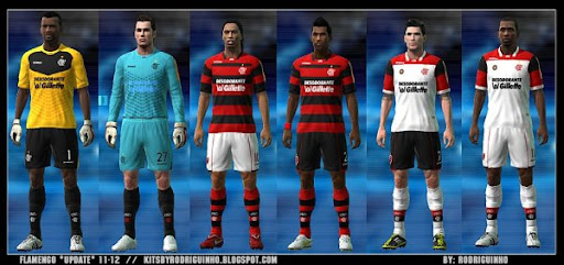 flamengo1 PES 2011: Uniforme do Flamengo 2011   Gillette