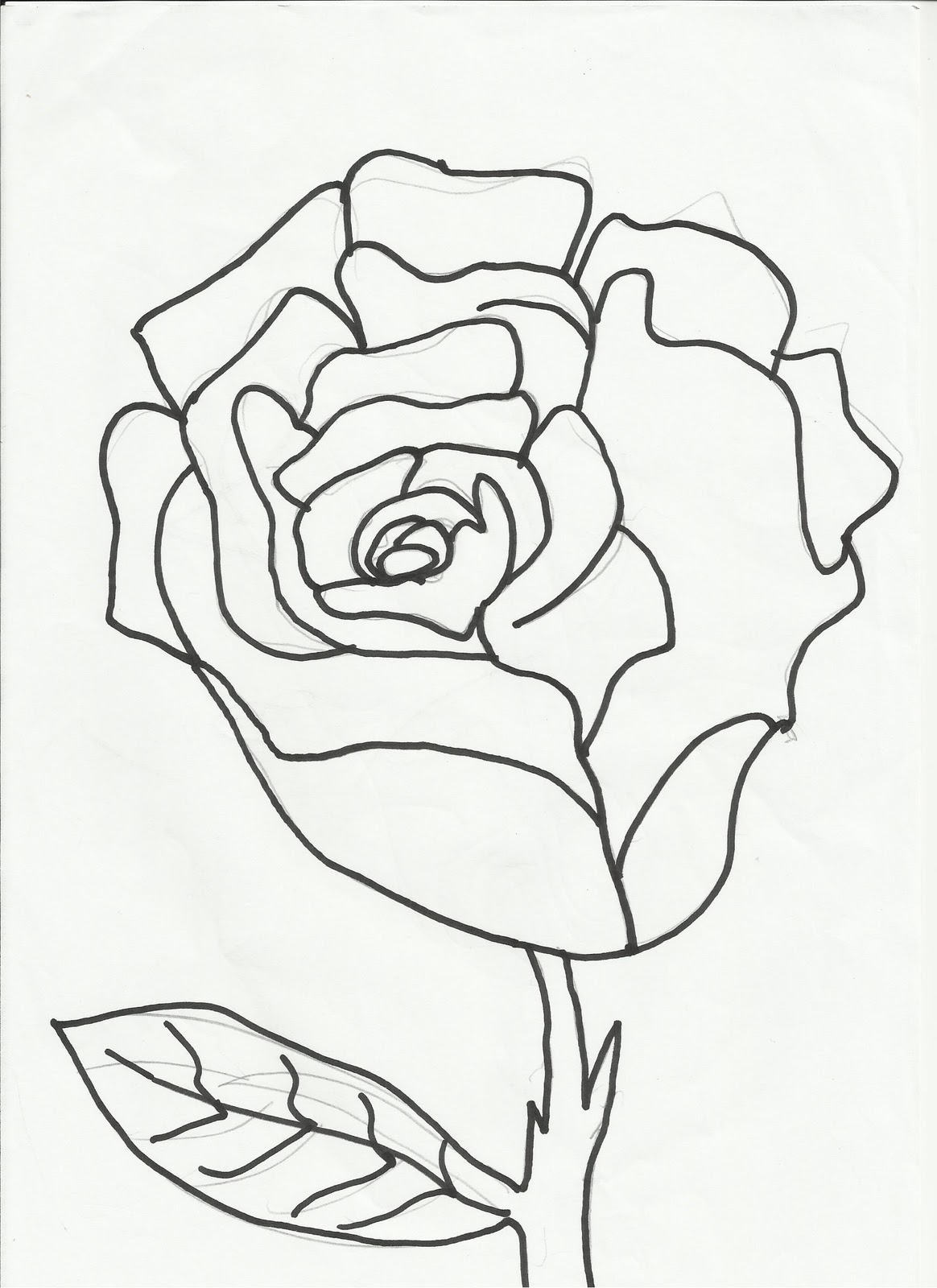 Desenhos Para Colorir Desenho Para Colorir De Rosa Divirta Se