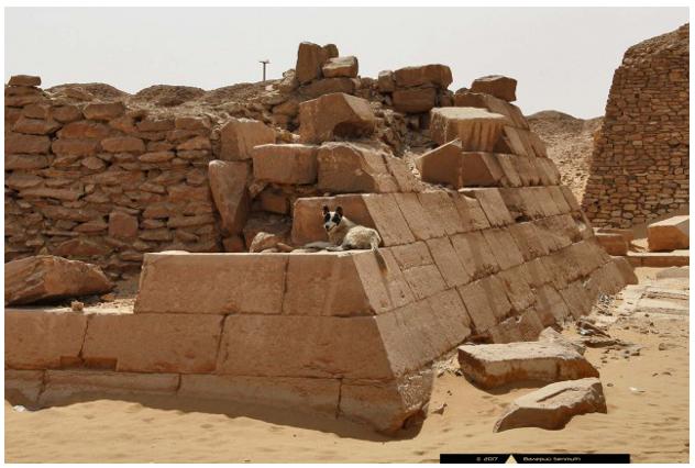 «внутренности» пирамиды Пепи II из Южной Саккары