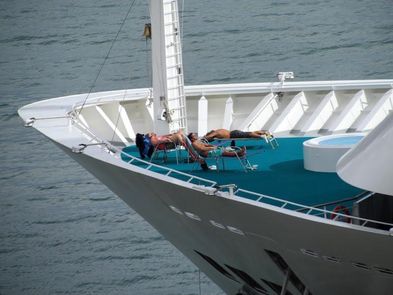 pause to sun in AIDAsol cruise ship