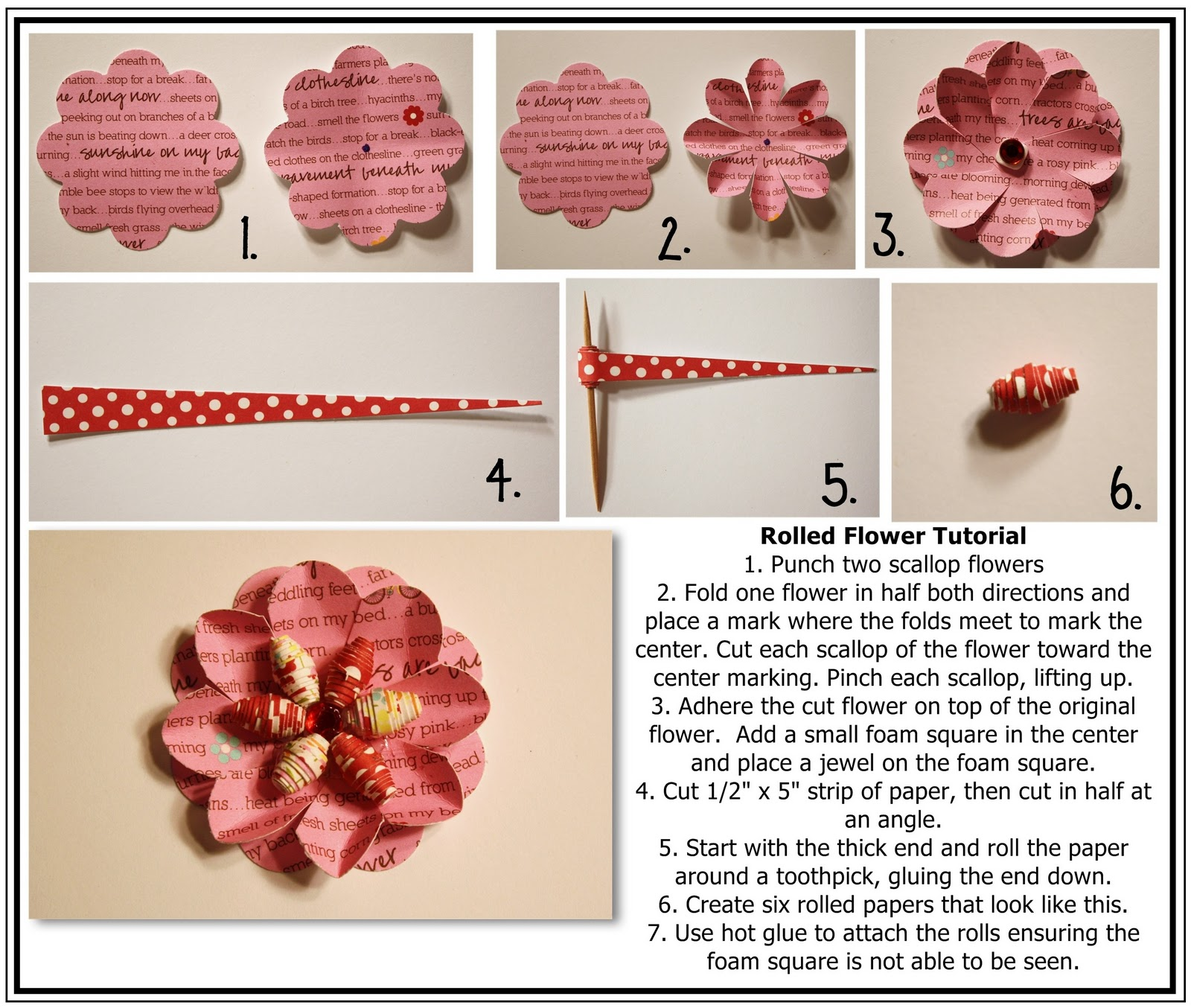 Bits Of Paper Rolled Flower Tutorial