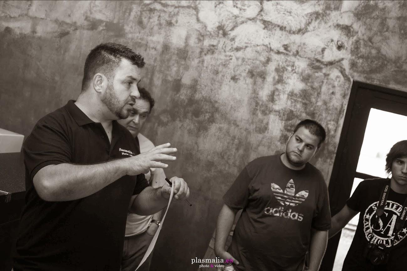 Chema Vela en su ponencia como fotógrafo.