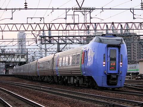 JR北海道 283系「スーパーおおぞら」 苗穂駅近くにて