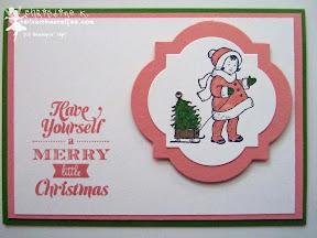 stampin up, weihnachten, merry little christmas, greeting card kids, framelits art deco