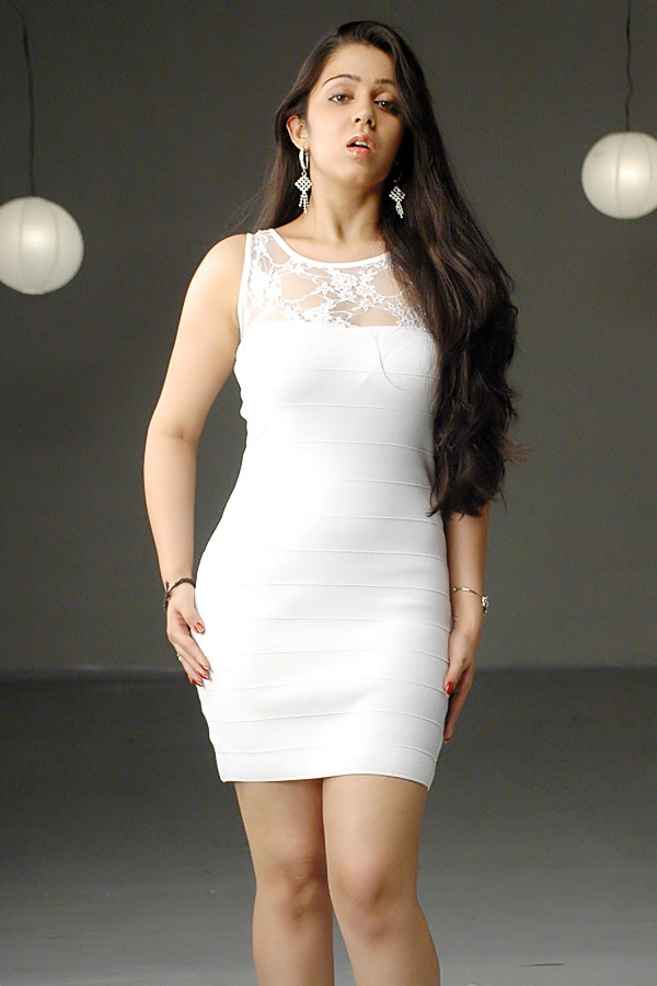 Charmi Kaur New Spicy Looking White Dress Photo Shoot-9939