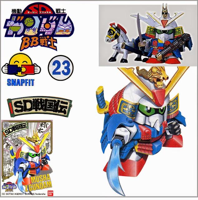 Đồ chơi lắp ghép mô hình Musha Z Gundam BB-023 SD Sengokuden thật bổ ích và lý thú