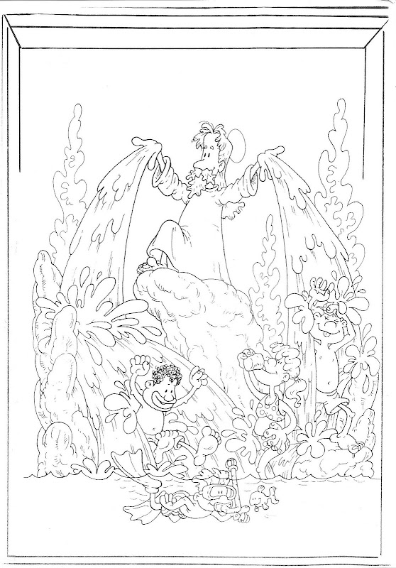 God creates water coloring pages