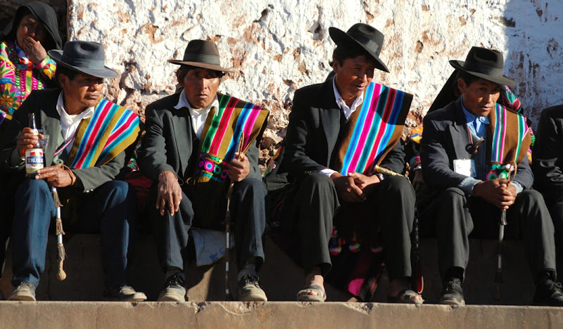 Peruvians in traditional costumes