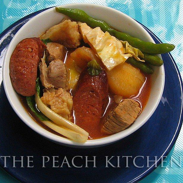 Beef Pochero with Eggplant Sauce