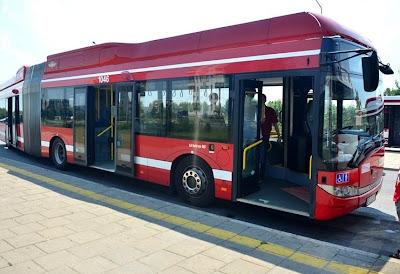 Solaris Urbino 18 CNG w czasie testów w MPK Radom