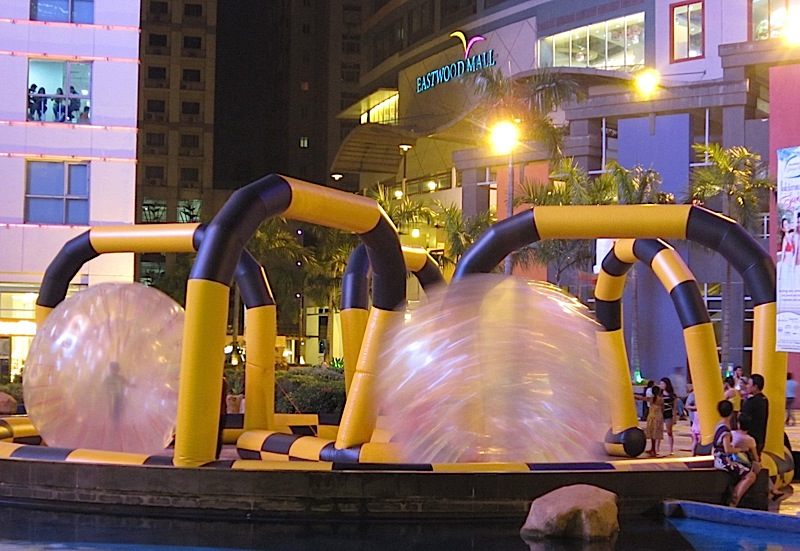 zorbs for children at Eastwood Mall
