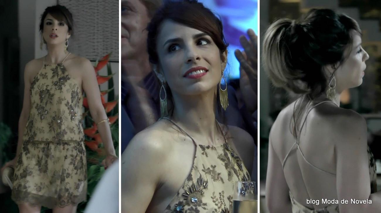 moda da novela Império - look da Danielle com vestido festa dia 19 de setembro