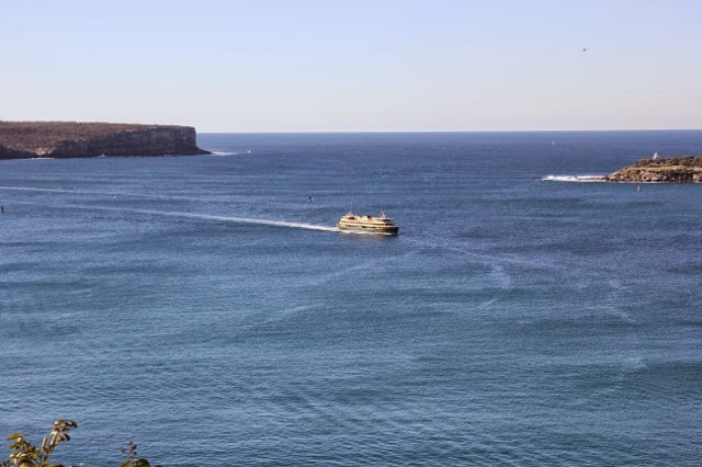 The Heads, the entrance to Port Jackson - Sydney Harbour - and the Manly Ferry