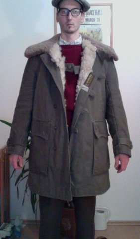1940s Swedish Army Canvas Coat With Shearling Lining | The Fedora ...