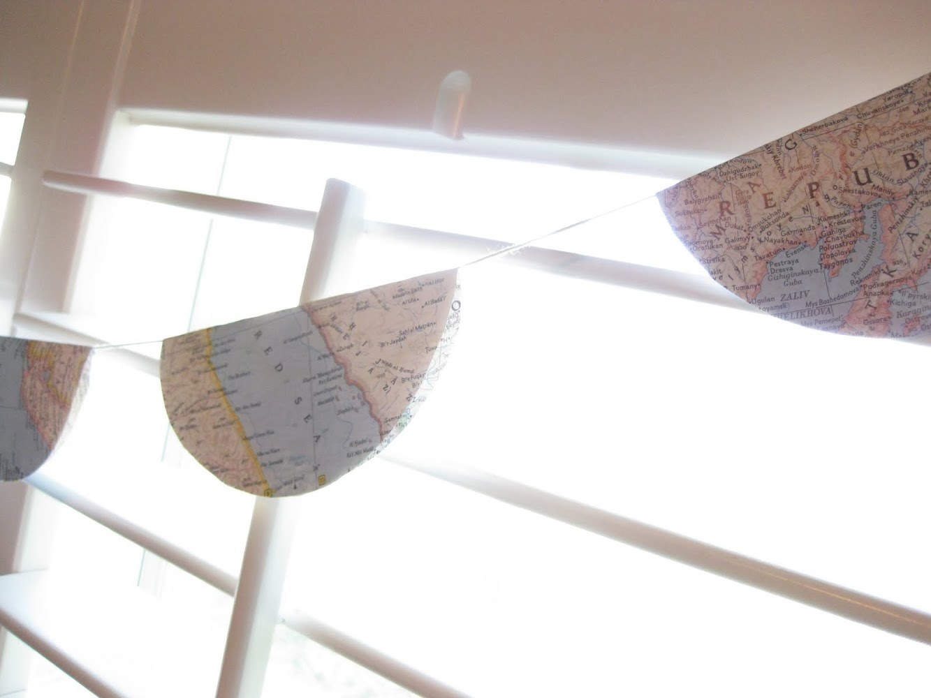 scalloped map bunting