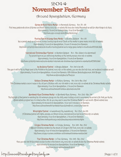 November Festivals Around Spangdahlem | World Traveling Military Family