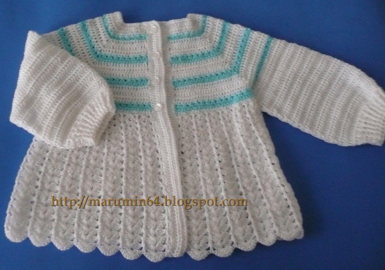 Como tejer un chambrita para bebé - Imagui
