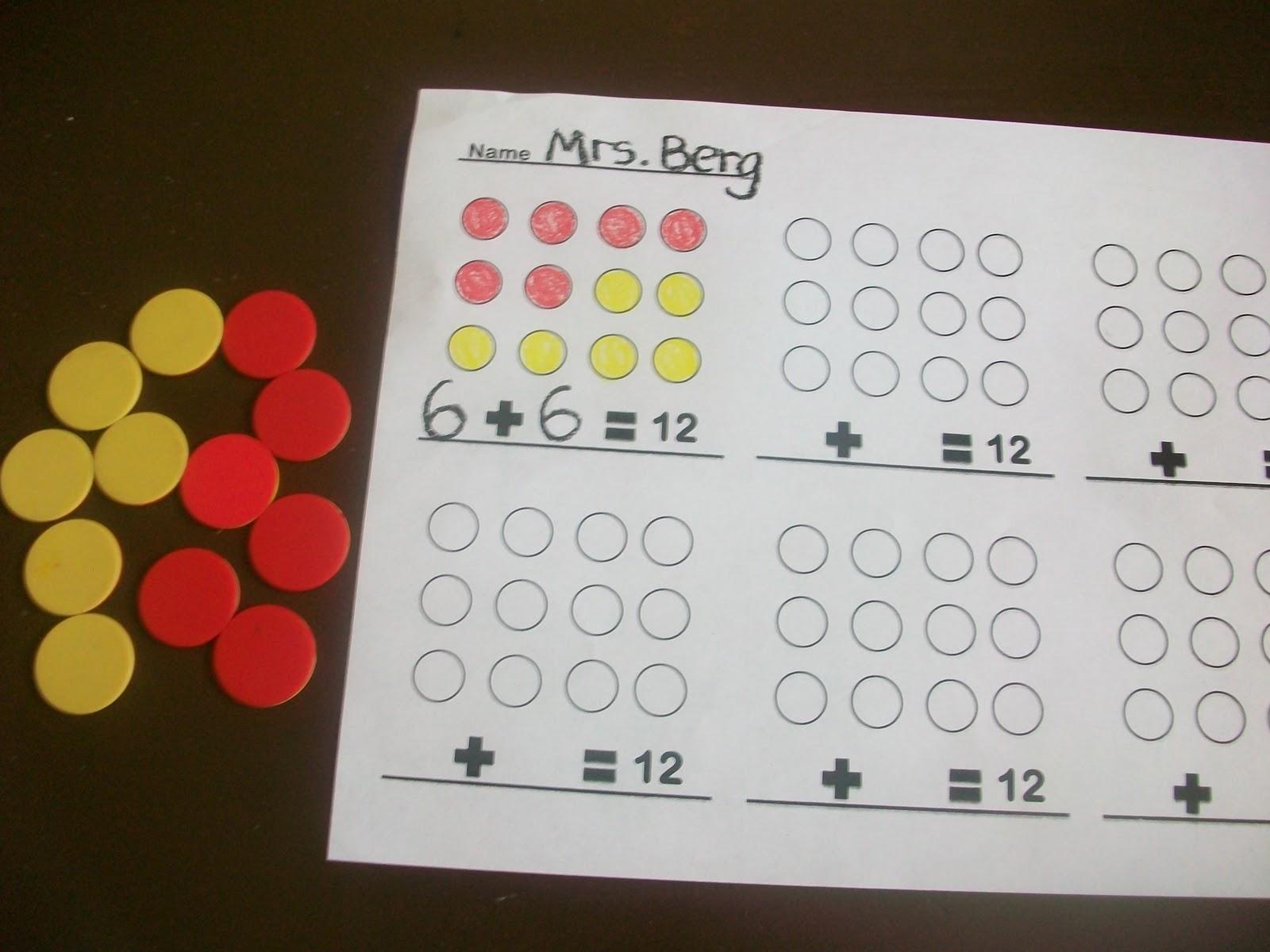 First Grade School Box Fact Family Activities