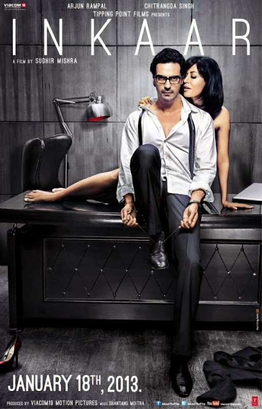 Poster Of Hindi Movie Inkaar (2013) Free Download Full New Hindi Movie Watch Online At Alldownloads4u.Com