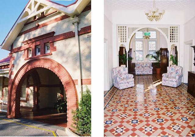 Kapara, portico and hallway