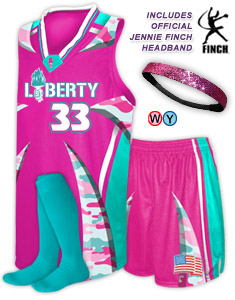 Camouflage Fastpitch Softball Uniforms