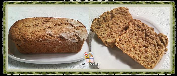 Pão integral com grãos de trigo germinados 2