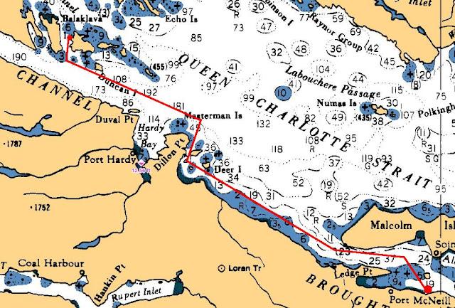 Vintage Nautical Maritime Chart Quatsino Sound To Hope Island Vancouver Is. Discounts Price