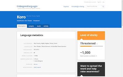 google.org endangered languages