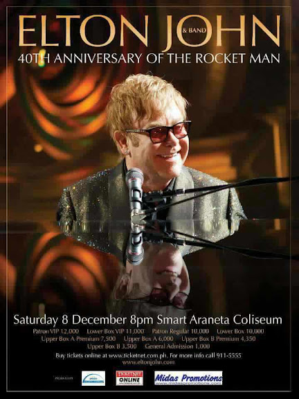 Elton John and Band Live in Manila Poster