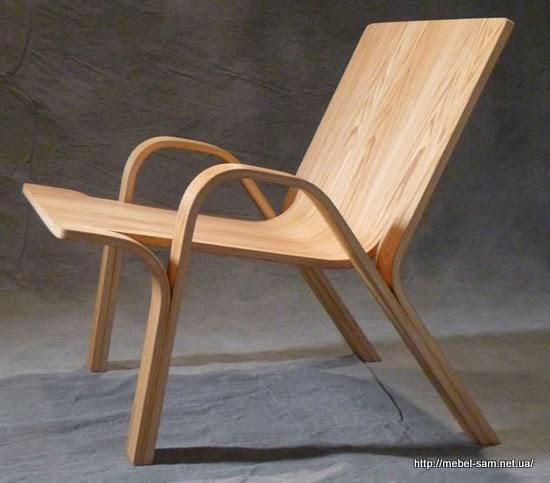 Фанерное кресло будет выглядеть так