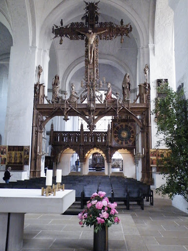 History in  Lubeck Altstadt Lubeck Cathedral - Domkirchof Brant Nutke legendary work in Lubeck Dom: a giant cross from 1477., Germany, visiting things to do in Germany, Travel Blog, Share my Trip