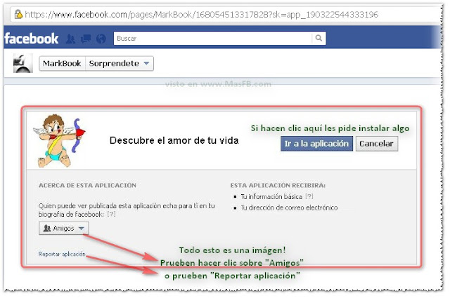 Facebook amor vida fraude virus