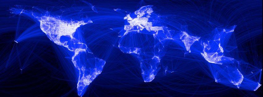 Soyut dünya haritası kapak fotoğrafları