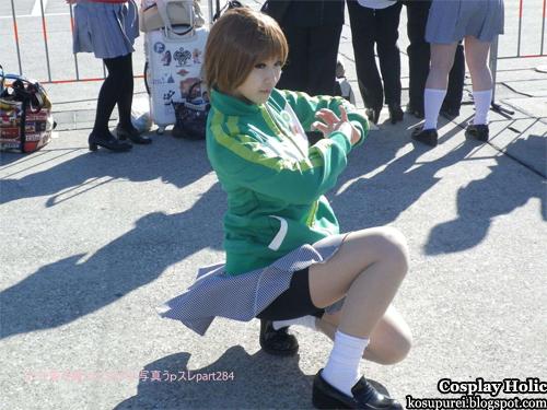 shin megami tensei: persona 4 cosplay - satonaka chie 2 from comiket 81