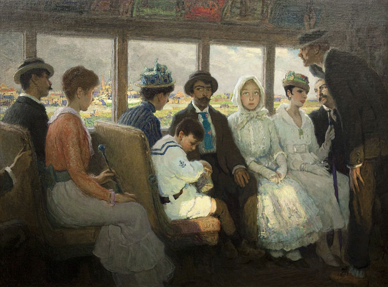 Francis Luis Mora - An Out of Town Trolley, 1916