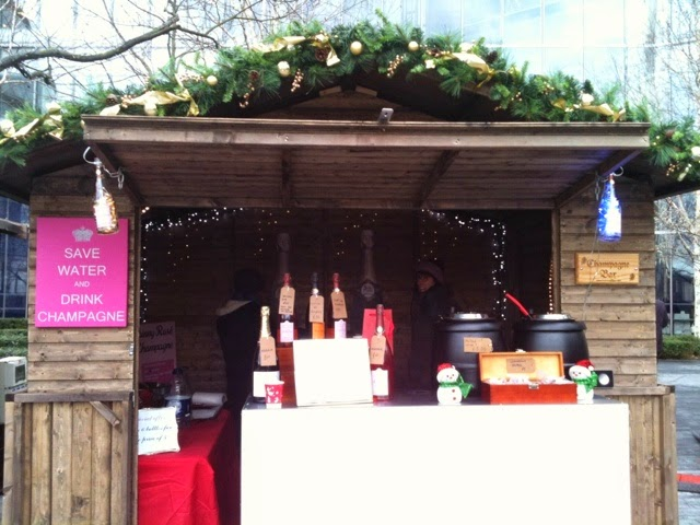 Christmas market champagne bar