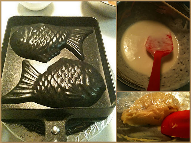 Fishy Pan, simple basic batter and home-made custard filling