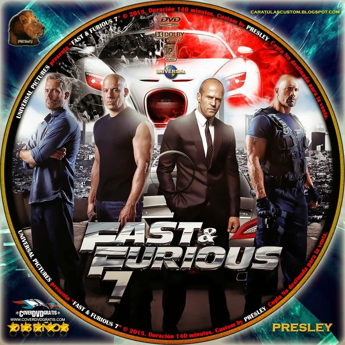 fast furious 7 2015 dvd cover coverdvdgratis. Black Bedroom Furniture Sets. Home Design Ideas