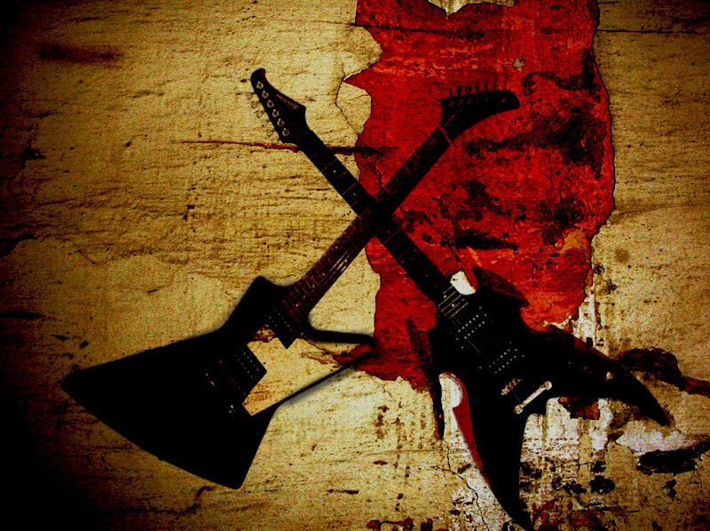 Heavy metal guitars in Stylish Music Wallpapers for Your Taste