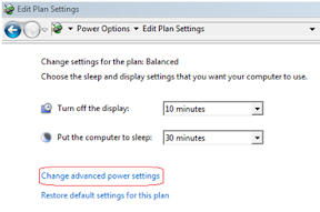 power advance settings