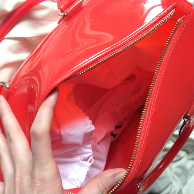 Sammi Jackson - Red Furla Candy Bag