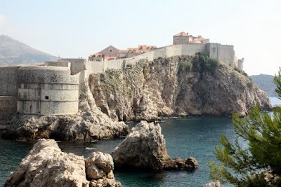 Dubrovnik city walls in Croatia
