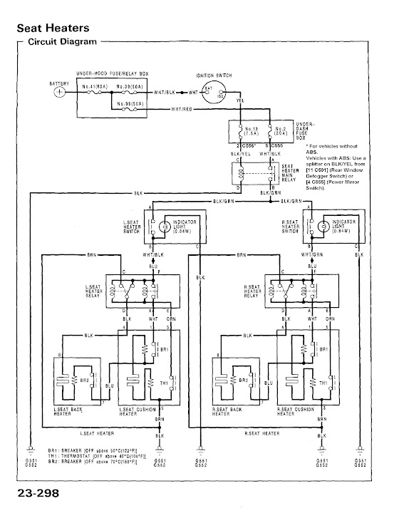 diy honda civic edm heated seats diy retrofit install guide heated seat wiring diagram for a 92 95 civic excerpt from the helms service manual click image for a link to a pdf version of this document