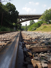 Photo of Pittsburgh railroad tracks near Schenley Park