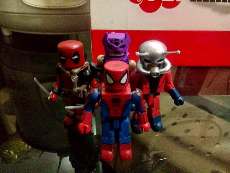 Deadpool Hawkeye Spider-Man Ant-Man Marvel Minimates